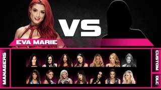 WWE 2K15: Divas Selection Screen