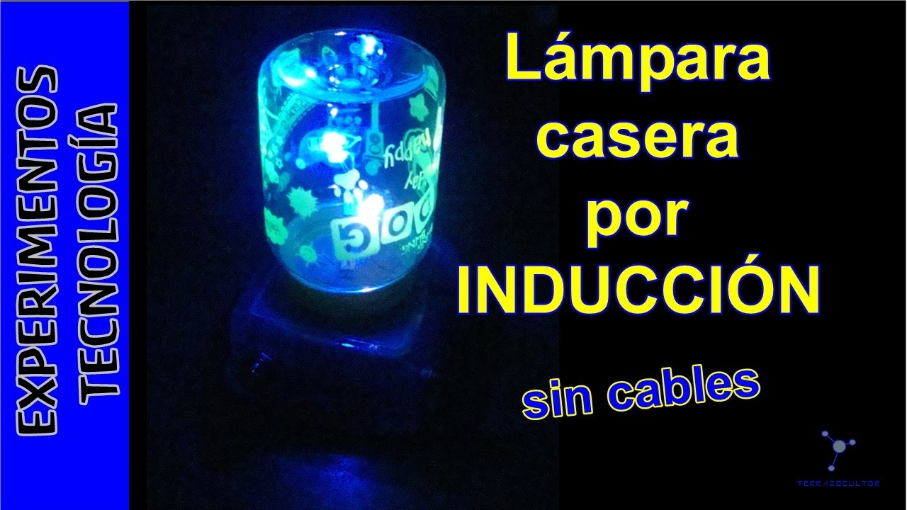 Lampara CASERA por INDUCCION sin cables  YouTube