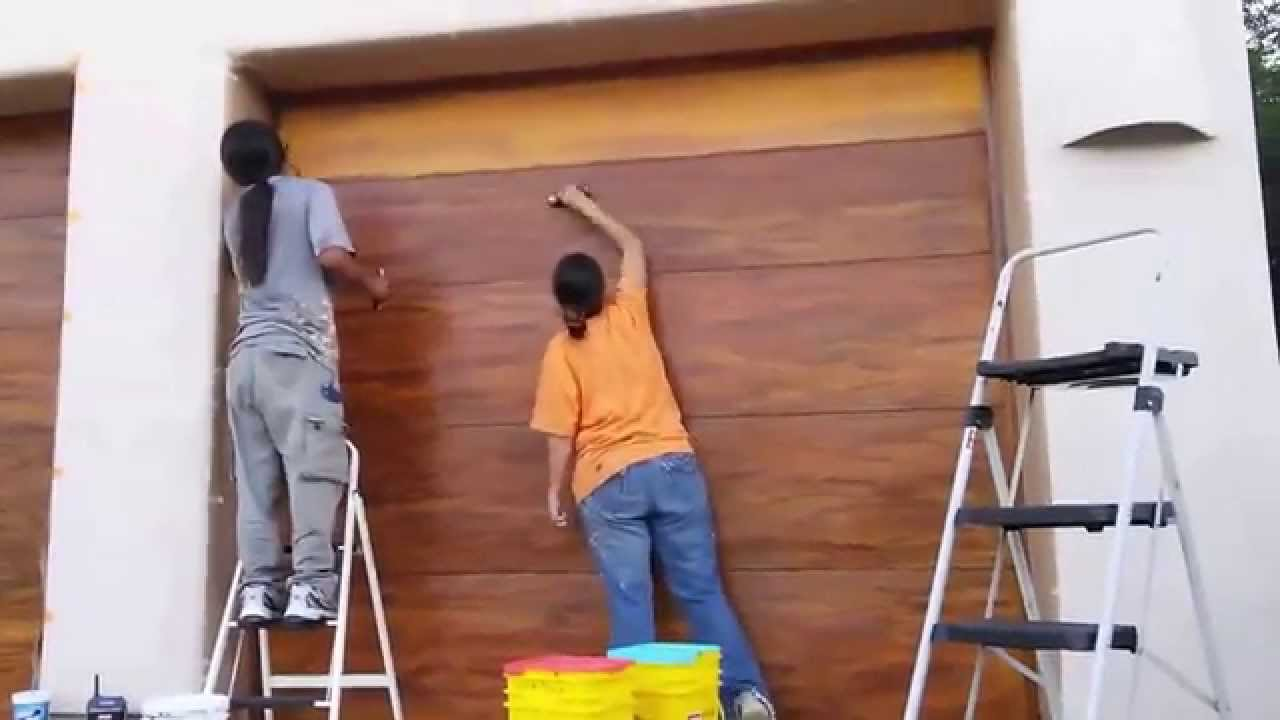 Faux Finish A Garage Door Youtube