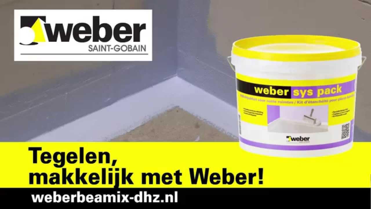 Het afdichten van een doucheruimte - Weber - YouTube