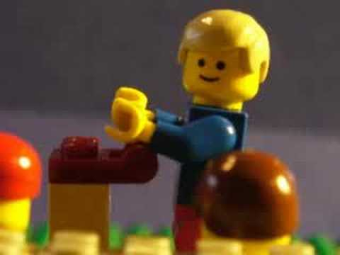 Weird Al Yankovic  White and Nerdy lego style
