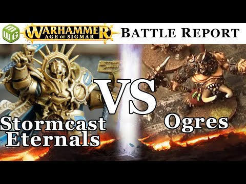 Stormcast Eternals vs Ogres Warhammer Age of Sigmar Battle Report - War of the Realms Ep 190