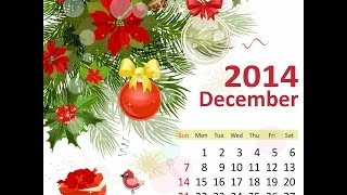 December 2014 Calendar (Holiday in December 2014)