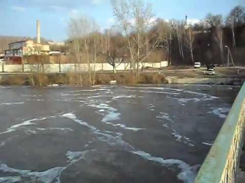 Город Сурск весной - половодье 2012
