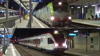 Qualche treno di sera a Mendrisio FFS (con tripla simmetrica)