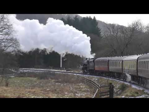 'The Final Salute' - 44806 Farewell, NYMR. New Years Day 2018 Part One