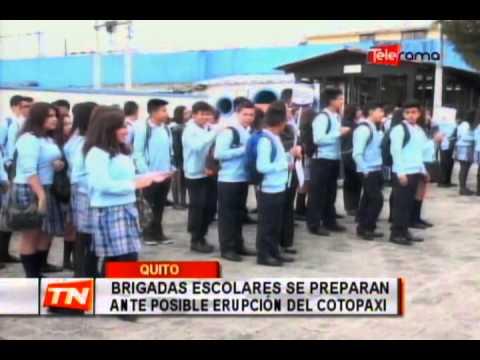 Brigadas escolares se preparan ante posible erupción del Cotopaxi