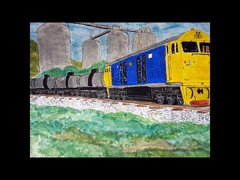ภาพรถไฟไทย(ภาพวาด)