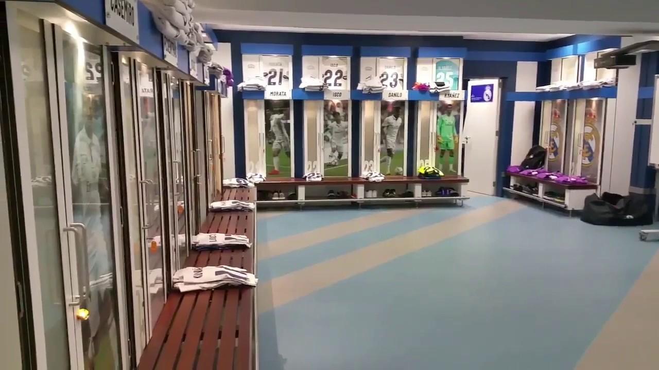 Vestuario Del Real Madrid Antes De Enfrentarse Al Depor