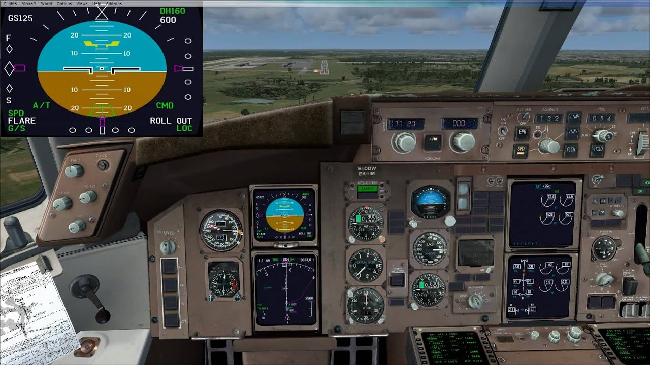 Flight Simulator X 767 Day ILS Auto Landing to KRDU by Nelwyn