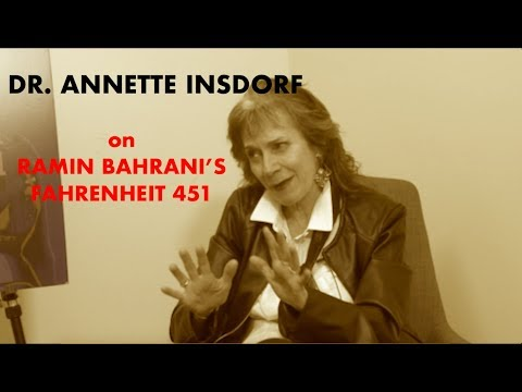 The Kamla   Dr. Annette Insdorf on HBO's 451 Fahrenheit by Ramin Bahrani