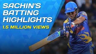 Sachin Tendulkar's Knock   RSWS Highlights   India Legends Vs West Indies Legends   Wankhede