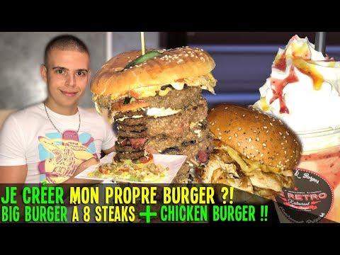 JE CRÉE MON PROPRE BURGER ?! BIG BURGER à 8 STEAKS + CHICKEN BURGER !!
