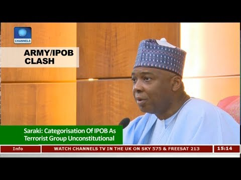 Saraki Says Categorisation Of IPOB As Terrorist Group Unconstitutional | News Across Nigeria |