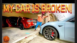 I had to Jump Start a Widebody Hellcat SRT with a TESLA   Authentic Benny