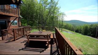 #33641 - Catskills Log Home, Deck With View