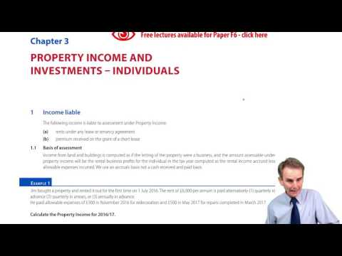 Property Income and Investments: Individuals – Introduction
