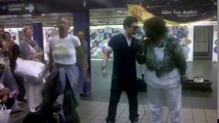 Singer (Alice Tan Ridley) in Port Authority Station - Rolling on the river