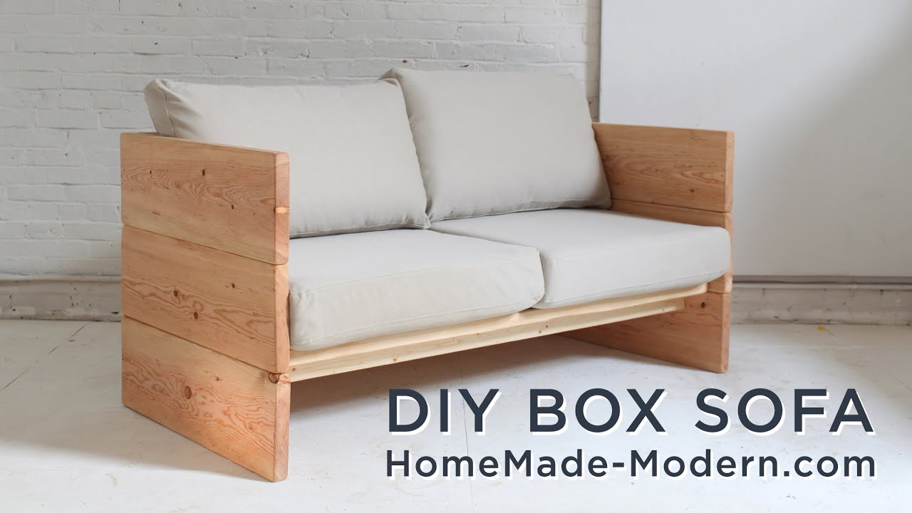 Amazing photo of DIY Sofa made out of 2x10s   with #8D5D3E color and 2240x1260 pixels