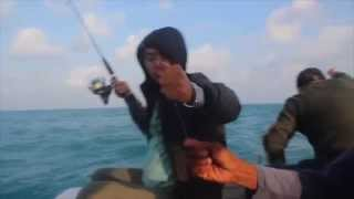 Azis Gagap mancing di Pulau Bangka