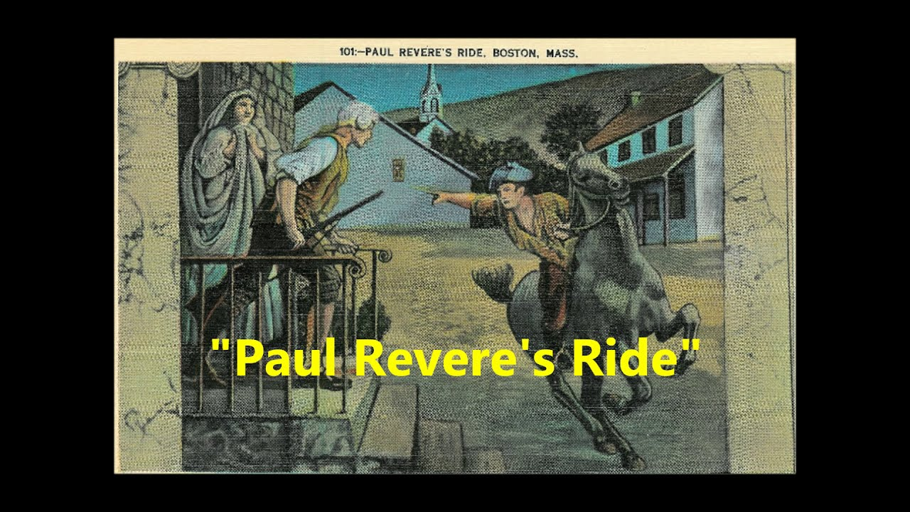 """Paul Revere's Ride"" poem by Henry Wadsworth Longfellow ..."