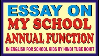 School Essay In English  Raidcatalanet Essay On My Classroom In English For School Kids By Hindi Tube Rohit My  School Essay My School Speech For Kids Of Class  To Class  In English  Writing