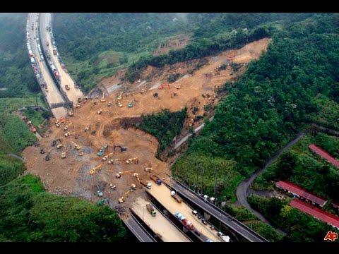 Live capture of a DANGEROUS landslide in Mussoorie - India