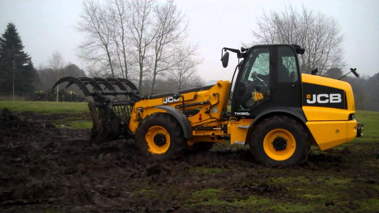 Farmers Guardian: JCB TM 320 Wheeled Loader - YouTube