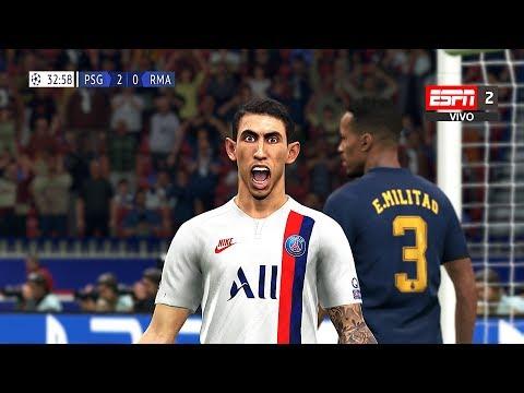 Recreación PSG 3-0 Real Madrid Uefa Champions League 2019
