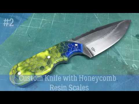DIY Custom Knife with Honeycomb Resin Scales - Part 2