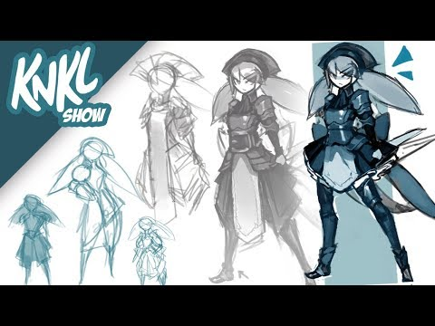 LIVE PAINTING | Armored Anime Maids! Pt 1 (designing Original Armors)