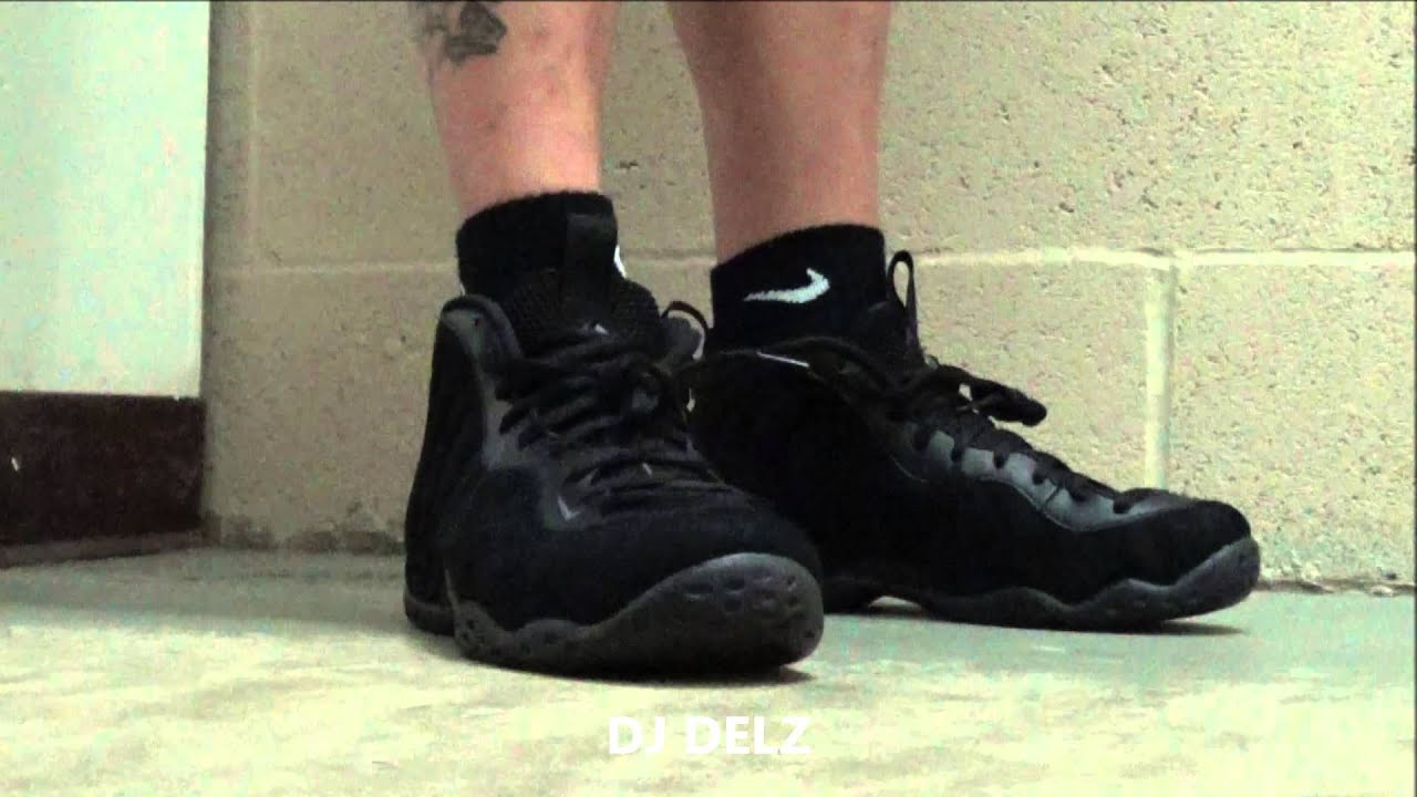 c989f7a8a4e6c ... spain nike foamposite one triple black suede shoe on foot with dj delz  youtube 21f42 7c563