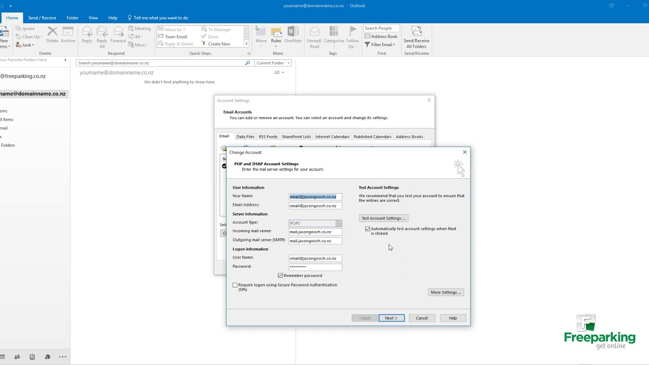 How to enable SMTP authentication in Outlook 2013