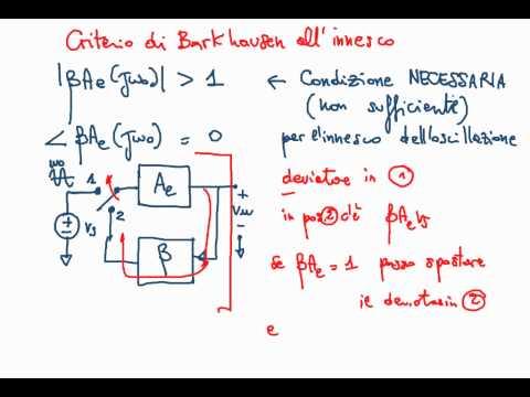 Elettronica 2013 - Lezione 56 - Oscillatori, criterio di Barkhausen e oscillatore a ponte di Wien