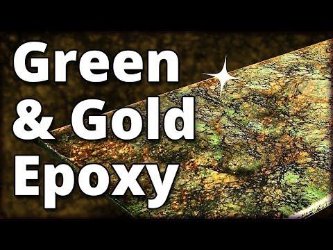 Make Green and Gold Granite with Epoxy | Stone Coat Countertops