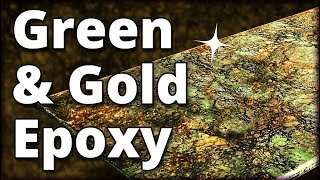 Make Green and Gold Granite with Epoxy | Stone Coat Countertops