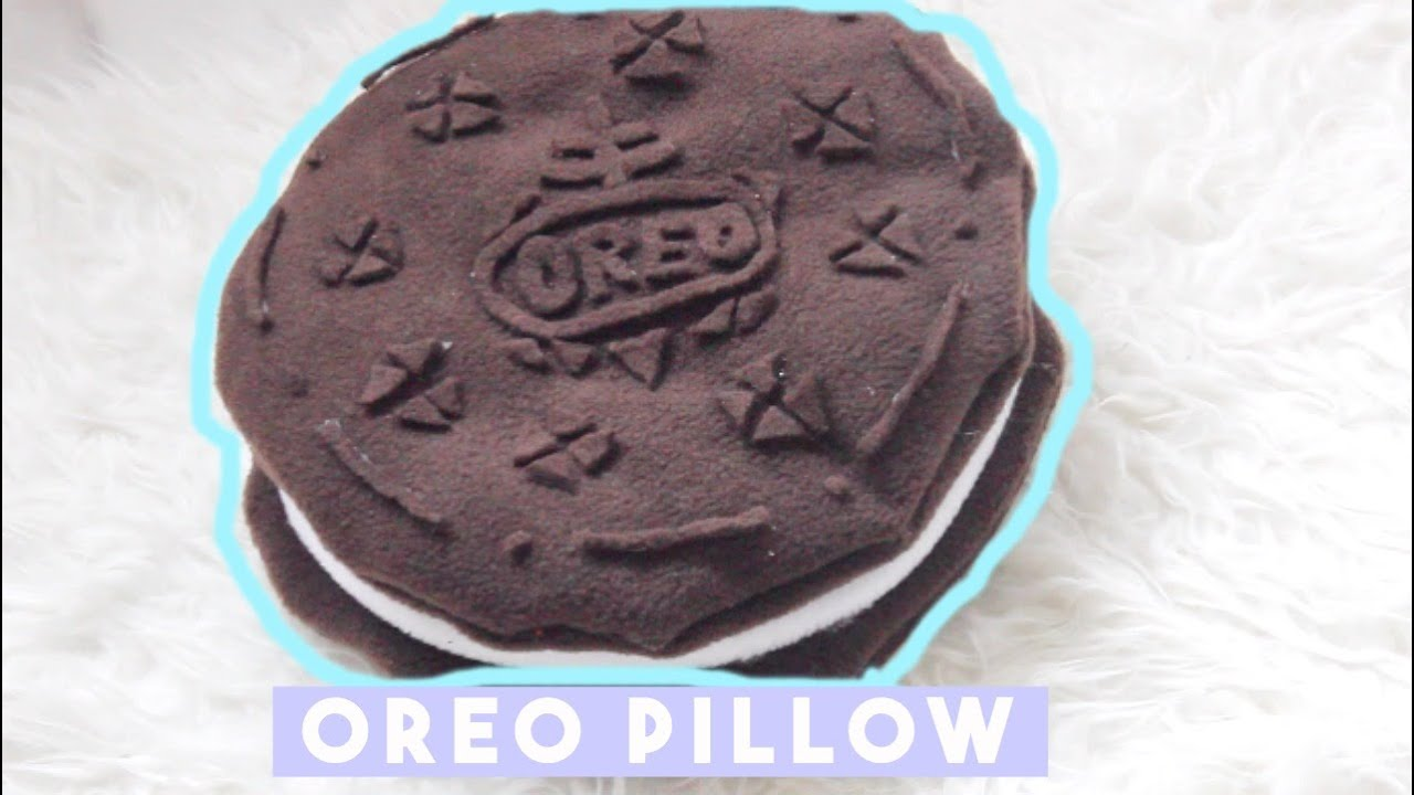 Diy No Sew Cookie Pillow: DIY Room Decor • Oreo Pillow (No Sew) • heartcindy   YouTube,