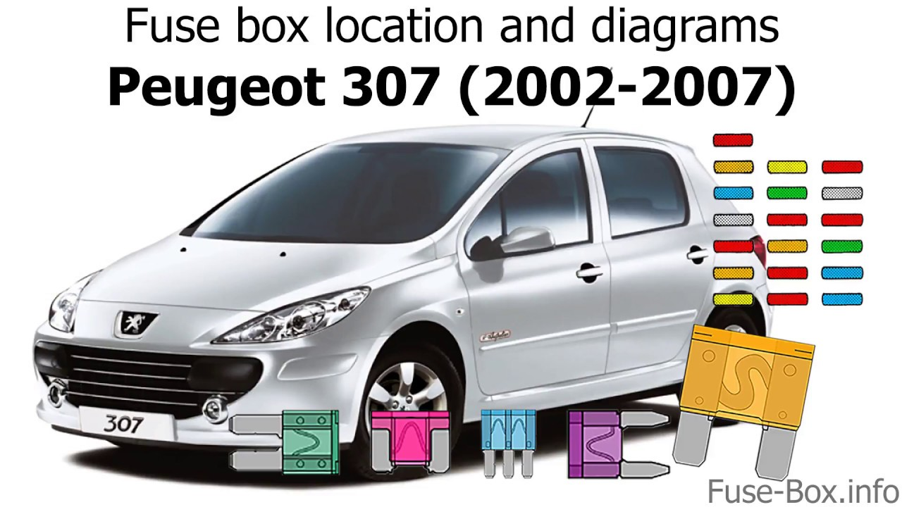 fuse box location and diagrams: peugeot 307 (2002-2007) - youtube  youtube