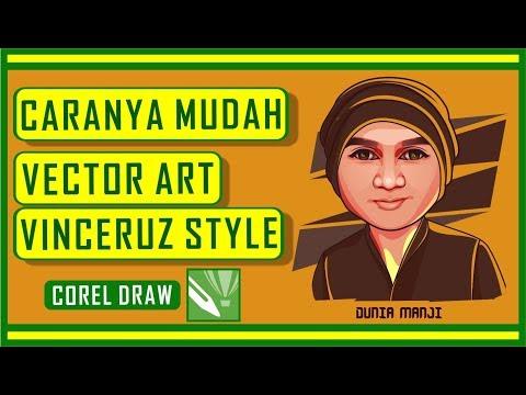 vector art tutorial corel draw - vince ruz style - dunia manji thumbnail