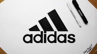 Adidas Logo Drawing by Denis