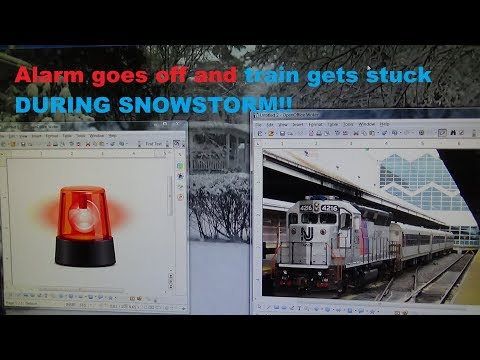 FIRE WHISTLE GOES OFF AND A STUCK TRAIN DURING SNOWSTORM!