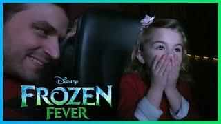 Adorable Reaction to Disney's Frozen Fever of Cinderella!