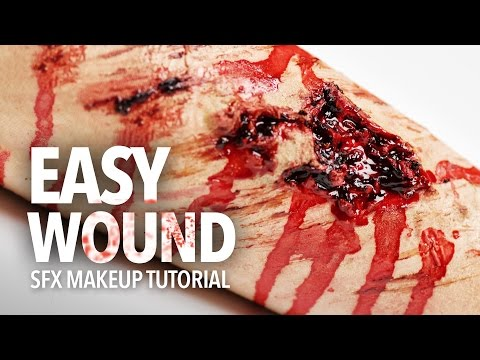 Easy wound sfx makeup tutorial