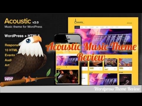 Acoustic Music Wordpress Theme Review