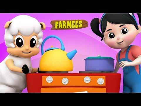 Polly Put The Kettle On | Nursery Rhymes | Baby Songs | Kids Rhymes by Farmees