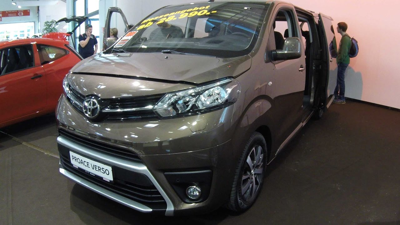 toyota proace verso family van 2017 brown colour. Black Bedroom Furniture Sets. Home Design Ideas