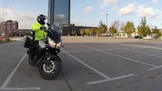 Motorcycle tight turns (Full lock figure 8