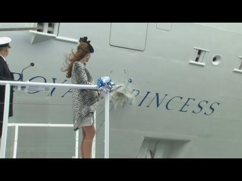 Duchess of Cambridge names new cruise liner: Kate Middleton is godmother of Royal Princess