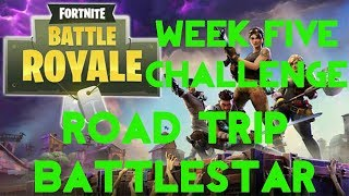 Fortnite Battle Royale | Season 5 Week 5 Challenge | Road Trip Secret Battle Star Location Guide