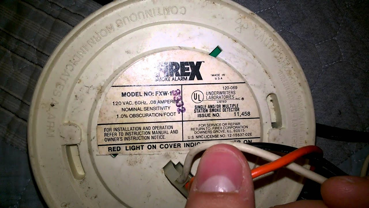 1980 S Firex Fxw 1 Smoke Detector Overview Test Youtube